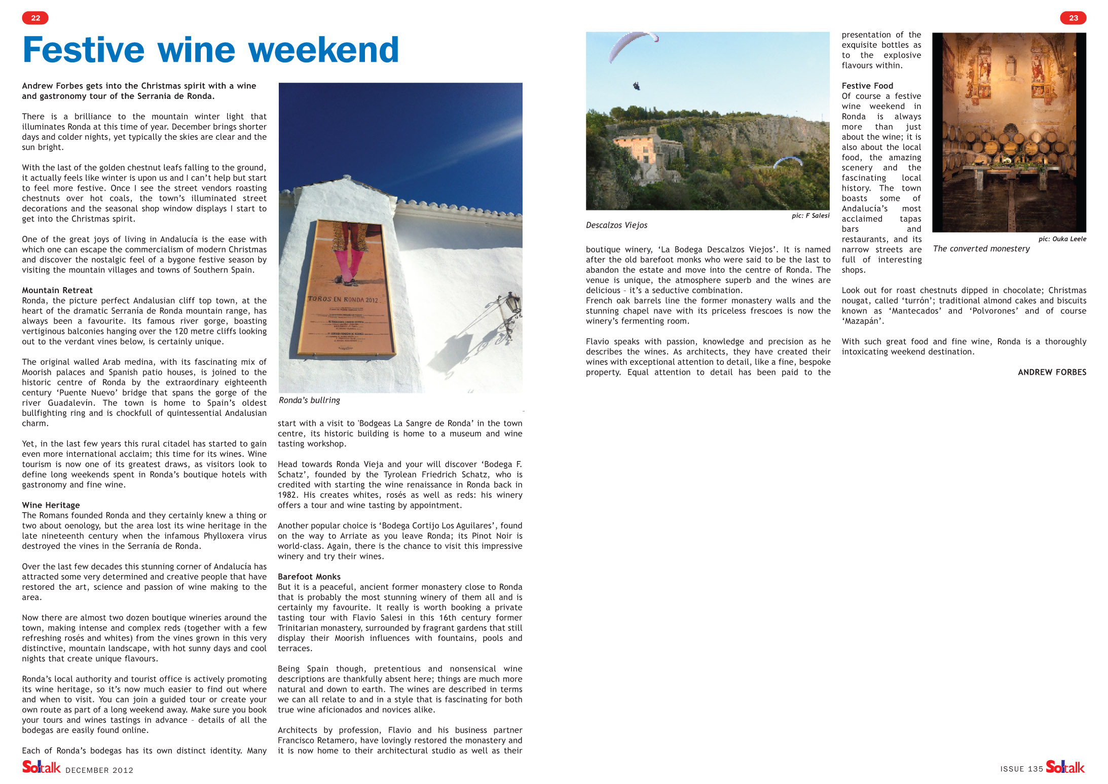 Festive Wine Weekend Ronda Soltalk Magazine Andrew Forbes