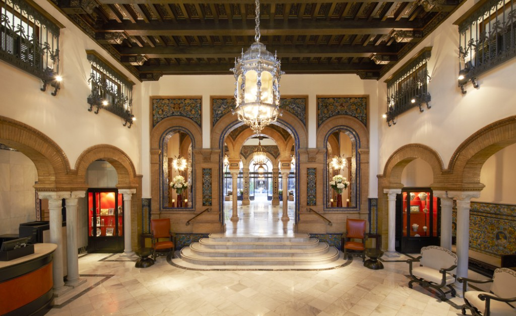 HOTEL ALFONSO XIII  LOBBY, SEVILLE, ANDALUCIA STARWOOD LUXURY COLLECTION