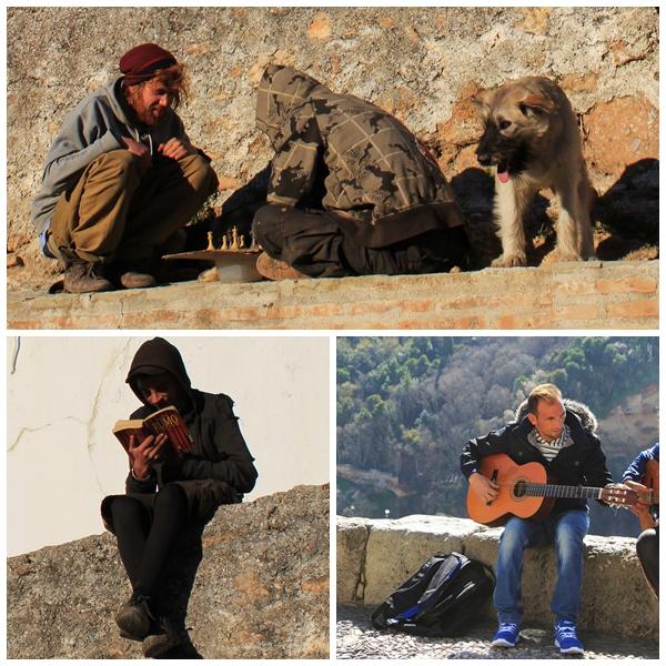 People in the Albaicin Granada