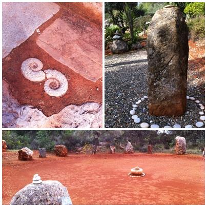 Stone circle Temple Garden