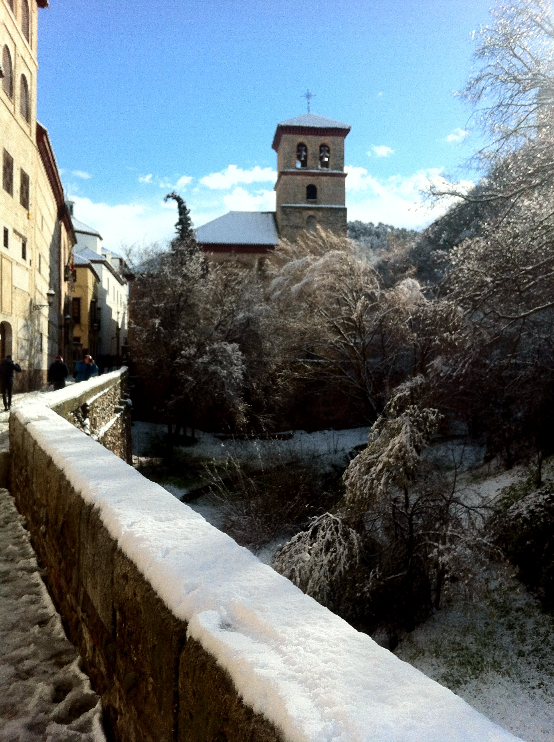 Snowy Albaicin Granada Andrew Forbes Blog