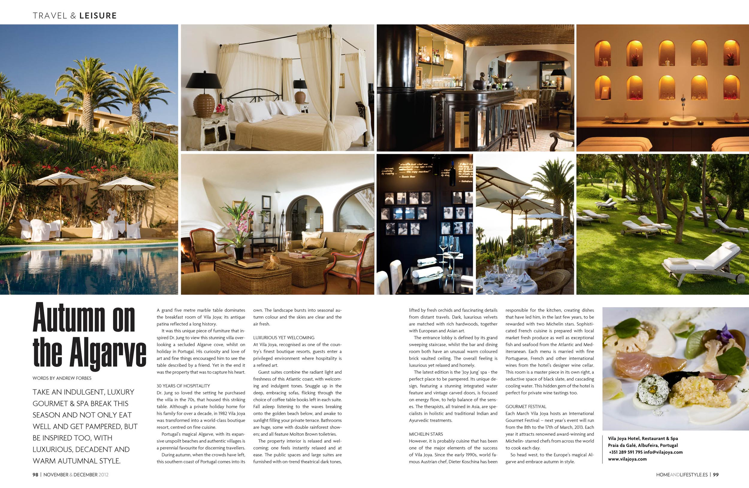 Vila Joya Portugal, Home and Lifestyle Magazine by Andrew Forbes