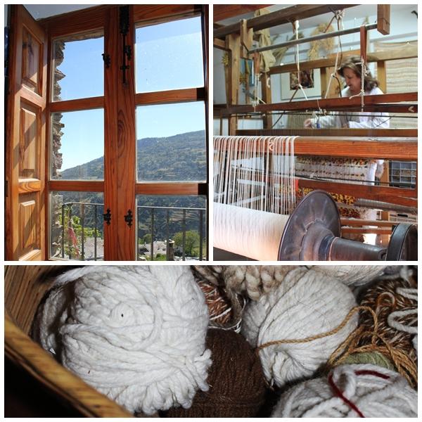 taller artisanal de jarapas de Hilacar Bubio - traditional Andalusia loom
