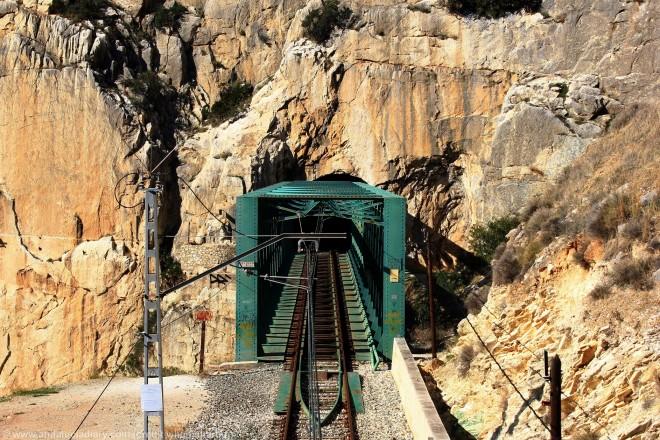 train line running through el chorro malaga andalucia diary